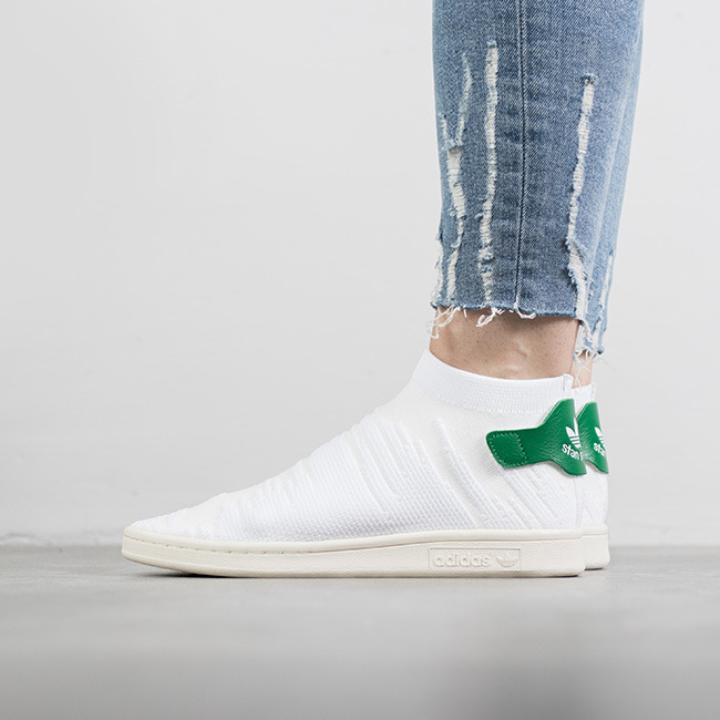 half off 035ef 3cae5 adidas stan sock smith sock stan primeknit by9252 Blanc 757207