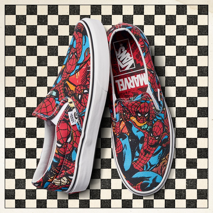 ... Мужские кеды Vans Classic Slip-On x Marvel Spiderman VA38F79H7 ... ec01be8e09e63