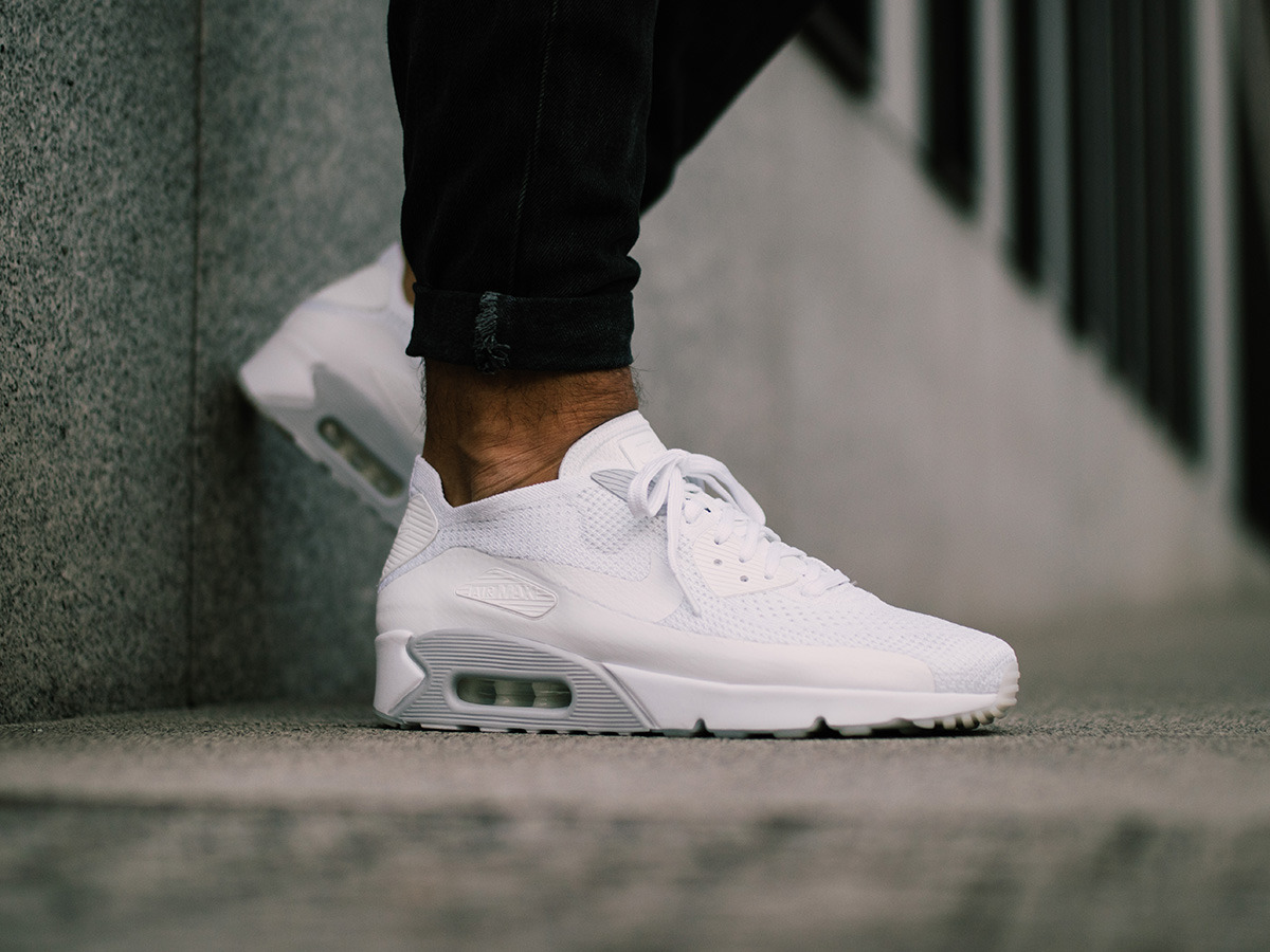Мужские кроссовки Nike Air Max 90 Ultra 2.0 Flyknit 875943 101 ... 20c5f2e1be4