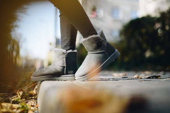 Женская обувь UGG Mini Bailey Button II 1016422 GREY