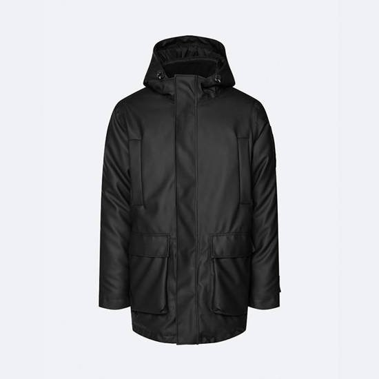 Мужская куртка Rains Glacial Parka 1525 BLACK