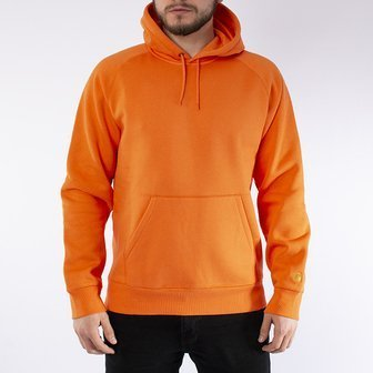 Чоловіча кофта Carhartt WIP Hooded Chase Sweat I026384 CLOCKWORK/GOLD