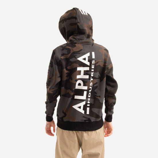 Чоловіча кофта Alpha Industries Basic Print Hoody Camo 178318C 125