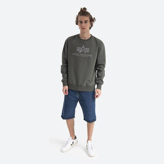Чоловіча кофта Alpha Industries Basic Sweater Reflective Print 178302RP 142