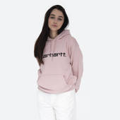 Жіноча кофта Carhartt WIP Hooded Sweat I027476 FROSTED PINK/BLACK